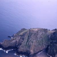 Oblique aerial photograph taken by Leo Swan of Sceilg Mhichíl, County Kerry.
